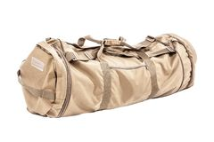 Army duffel bag. Army gym bag isolated on white studio shot stock photos
