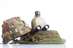 Army equipment isolated Stock Photos