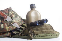Army equipment isolated Royalty Free Stock Image