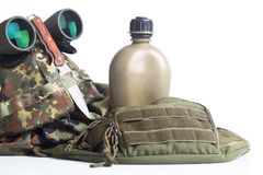 Army equipment isolated Stock Photo
