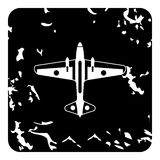 Army fighter icon, grunge style Stock Images