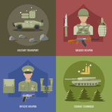 Army Flat Design Stock Photography
