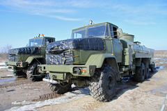 Army fuel trucks Royalty Free Stock Photos