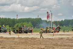 Army Games-2017. Safe Route contest. Tyumen.Russia Royalty Free Stock Photo