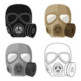 Army gas mask icon in cartoon style isolated on white background. Military and army symbol stock vector illustration Royalty Free Stock Images