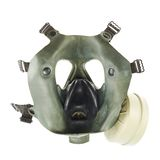Army gas mask isolated. Over the white background Royalty Free Stock Photography