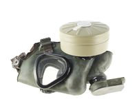 Army gas mask isolated. Over the white background Royalty Free Stock Photo