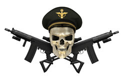 Army General Skull with Guns Royalty Free Stock Photo
