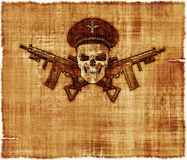 Army General Skull Parchment Royalty Free Stock Photography