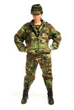 Army girl Royalty Free Stock Images