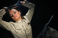 Army girl Stock Photography