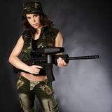 Army girl Royalty Free Stock Photo