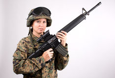 Army girl Royalty Free Stock Photos