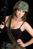 Army Girl Royalty Free Stock Photography