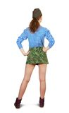 Army girl . Rear view Royalty Free Stock Photography