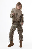 Army girl 2 Stock Image