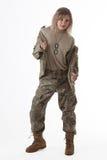 Army girl 2 Stock Image