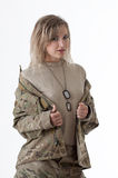 Army girl 1 Stock Photos