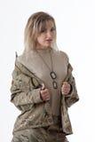 Army girl 1 Stock Photos