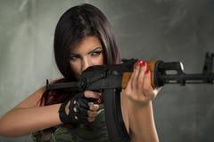 Army girl Royalty Free Stock Photos