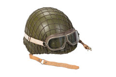 Army with goggles helmet isolated on white. Army with goggles helmet isolated on a white Stock Photo