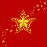 Army gold star. Victory Day. Vector Victory Day symbol - Army gold star and red background Royalty Free Stock Photography