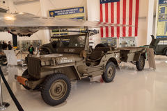 Army Green 1942 Ford GPW Military Jeep. Santa Ana, CA, USA - January 21, 2017: Army Green 1942 Ford GPW Military Jeep displayed at the Lyon Air Museum in El Stock Image