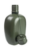 Army green plastic canteen Stock Photo
