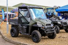Polaris utility vehicle. A army green Polaris ADC ranger utility vehicles Stock Images