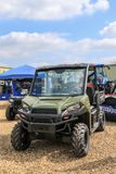 Polaris utility vehicle. A army green Polaris ADC ranger utility vehicles Stock Photos