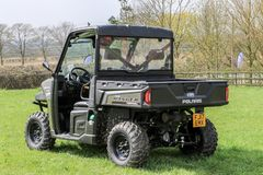 Polaris utility vehicle. A army green Polaris ADC ranger utility vehicles Royalty Free Stock Photo