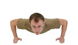 Army guy pushup Royalty Free Stock Images
