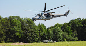 Army helicopter. War army helicopter chopper russian soviet Stock Image