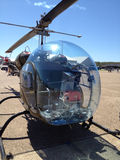 Army helicopter at Arkansas air show. One to two person helicopter with large bubble canopy Stock Images