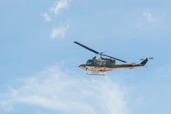 Army helicopter on blue sky Stock Images