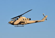 Army helicopter in flight Stock Images