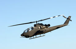 Army helicopter side view Royalty Free Stock Images