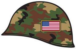 Army helmet. Usa flag, military helmet Stock Photo