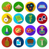 Army, history, cooking and other web icon in flat style. cosmetology, recreation, tourismicons in set collection. Royalty Free Stock Photos