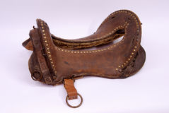Army Horse Saddle Stock Photo