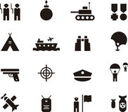Army icon set Royalty Free Stock Photography
