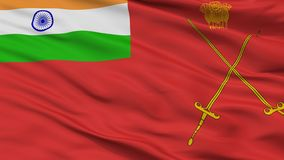 Army Indian Flag Closeup View royalty free illustration