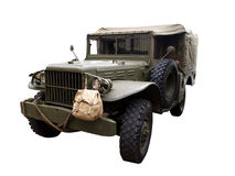 Army Jeep. Military jeep isolated on a white background Royalty Free Stock Photography