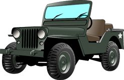 Army Jeep. Illustration that depicts a world war II era US Army Jeep Stock Photos