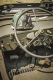 Army Jeep Interior Stock Photography