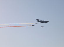 Army jets at the airshow in Doha Stock Photo