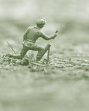 Army Man. Plastic army man with shallow depth of field Royalty Free Stock Images