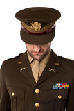 Army man looking down Stock Photo