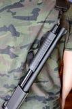 Army Man With Shotgun Royalty Free Stock Photos
