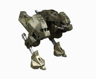 Army mech. 3d render of a mech Stock Photography